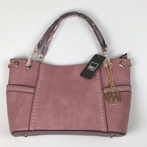 Mia K. Farrow Dusty Rose Pocket Shoulder Bag